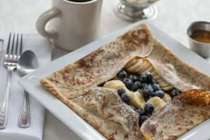 Blueberry and Banana Crepe