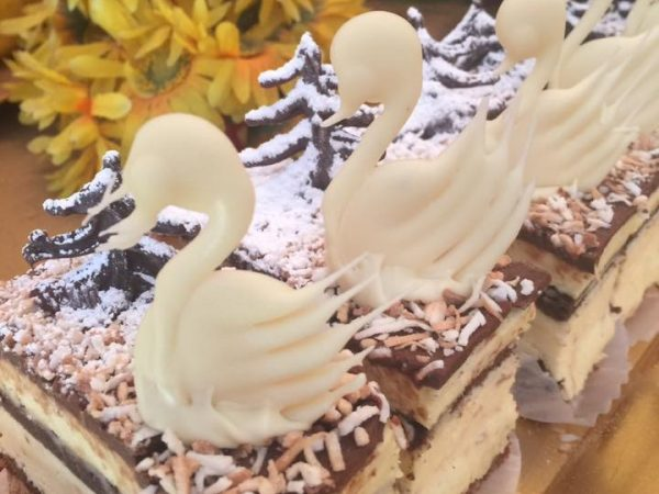 Savory Chocolate Swans